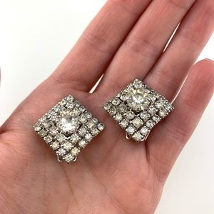 VINTAGE Crystal Earrings